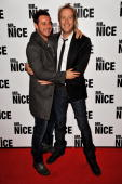Actors Danny Dyer and Rhys Ifans attend the UK premiere of 'Mr Nice' at Cineworld Haymarket on October 4 2010 in London England