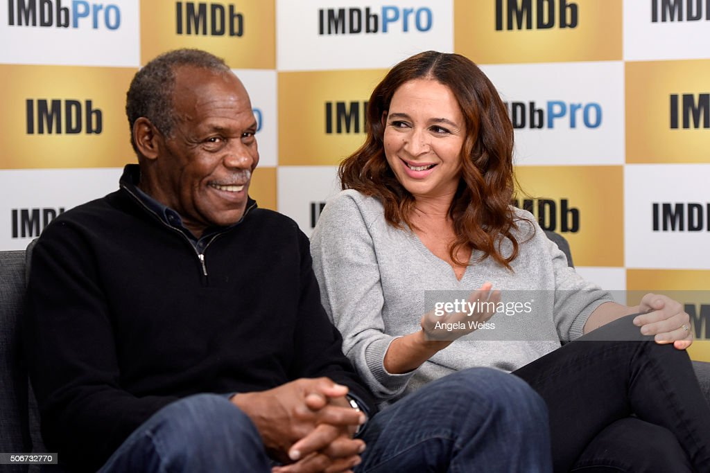 Actors Danny Glover (L) and Maya Rudolph in The IMDb Studio In Park City, Utah: Day Four - on January 25, 2016 in Park City, Utah.