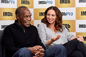 Actors Danny Glover and Maya Rudolph in The IMDb Studio In Park City Utah Day Four on January 25 2016 in Park City Utah