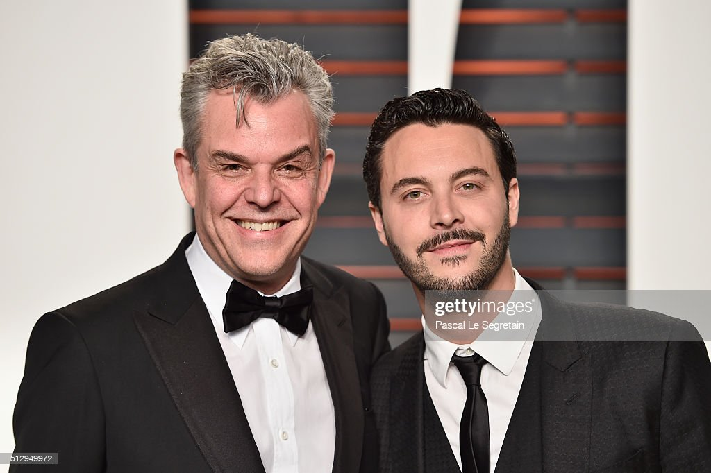 Actors Danny Huston and Jack Huston attend the 2016 Vanity Fair Oscar Party Hosted By Graydon Carter at the Wallis Annenberg Center for the...