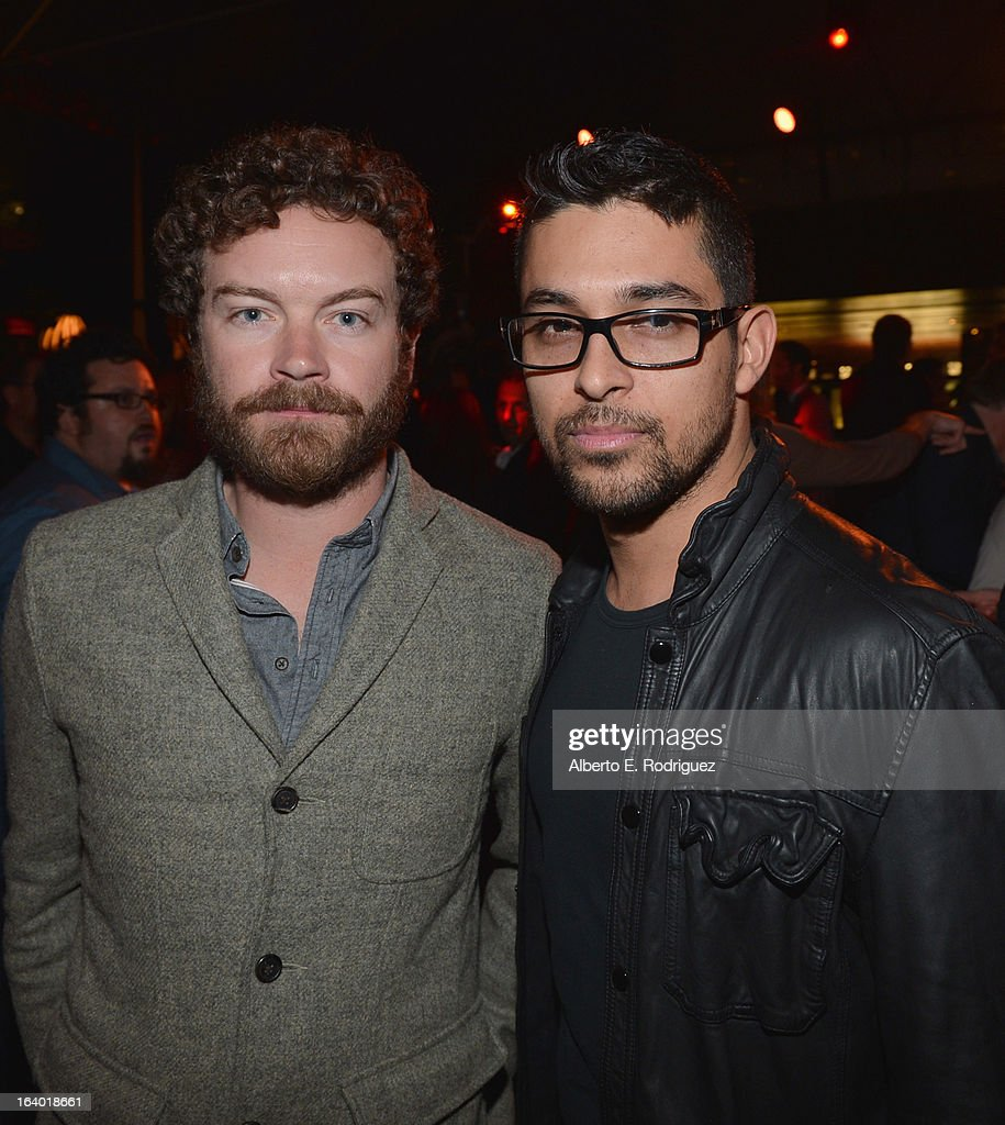 Actors Danny Masterson and Wilmer Valderrama attend the after party for the premiere of FilmDistrict's 'Olympus Has Fallen' at Lure on March 18, 2013 in Hollywood, California.