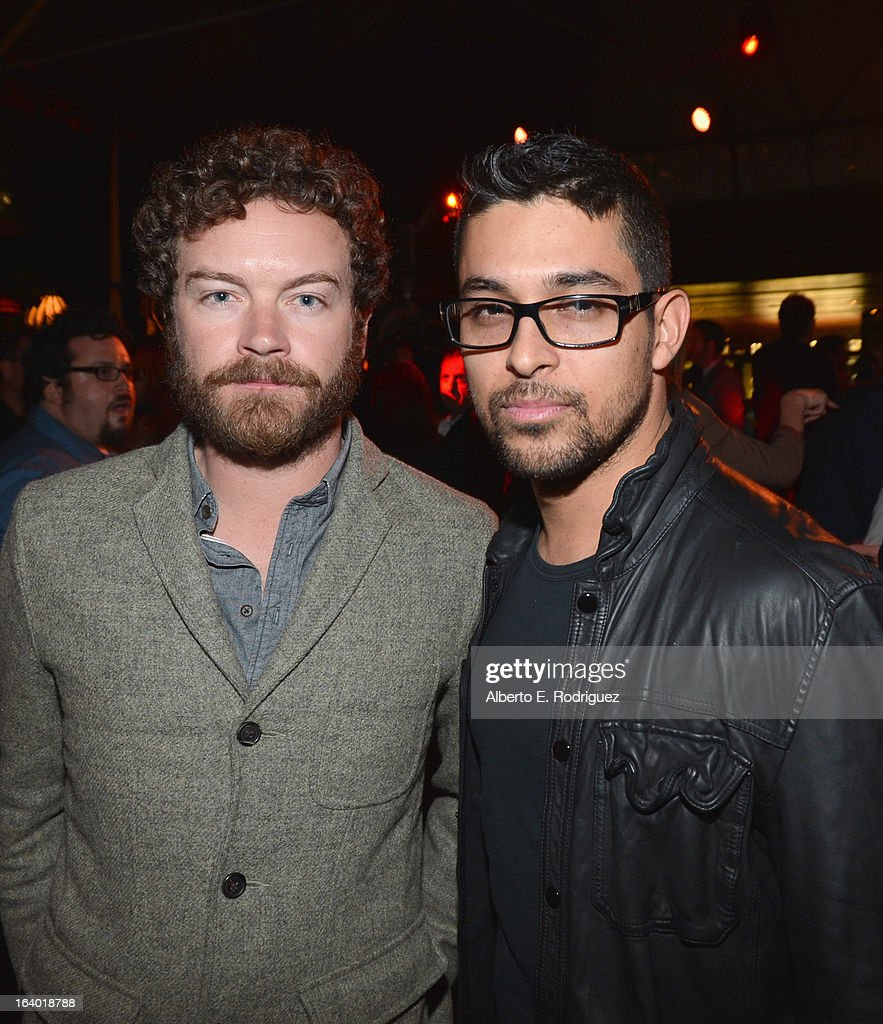Actors <a gi-track='captionPersonalityLinkClicked' href=/galleries/search?phrase=Danny+Masterson&family=editorial&specificpeople=239512 ng-click='$event.stopPropagation()'>Danny Masterson</a> and <a gi-track='captionPersonalityLinkClicked' href=/galleries/search?phrase=Wilmer+Valderrama&family=editorial&specificpeople=202028 ng-click='$event.stopPropagation()'>Wilmer Valderrama</a> attend the after party for the premiere of FilmDistrict's 'Olympus Has Fallen' at Lure on March 18, 2013 in Hollywood, California.