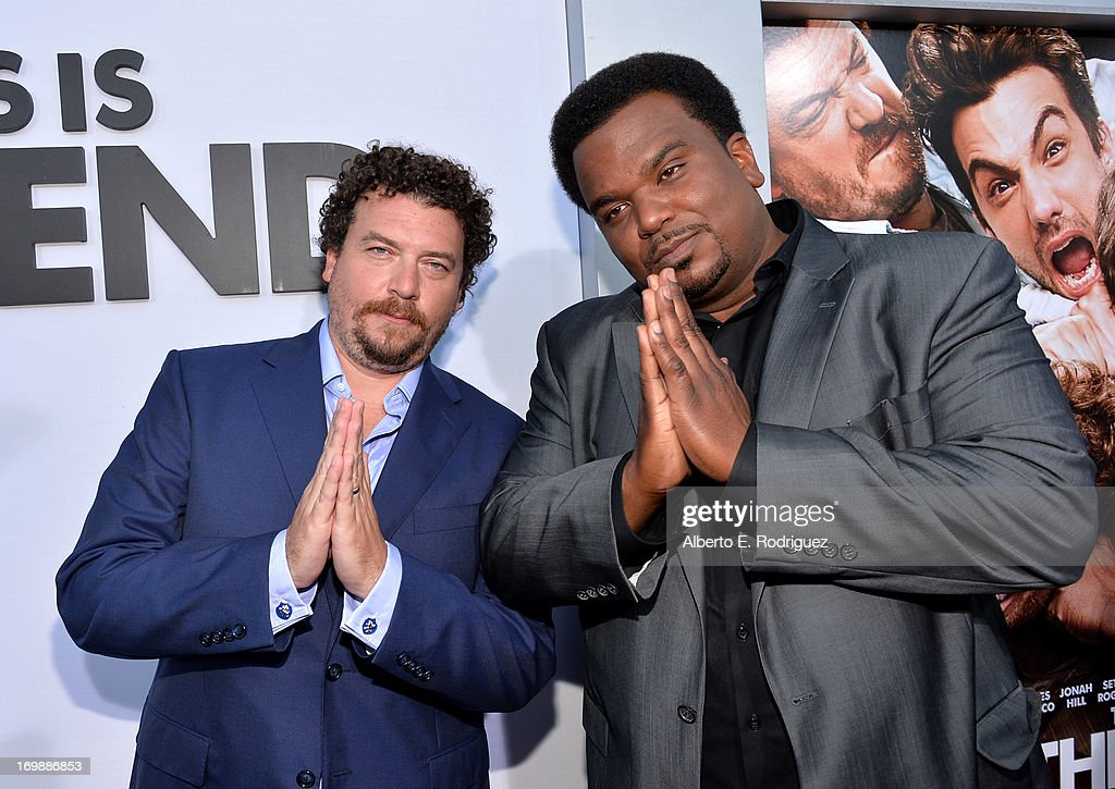 Actors Danny McBride and Craig Robinson attend Columbia Pictures' 'This Is The End' premiere at Regency Village Theatre on June 3, 2013 in Westwood, California.