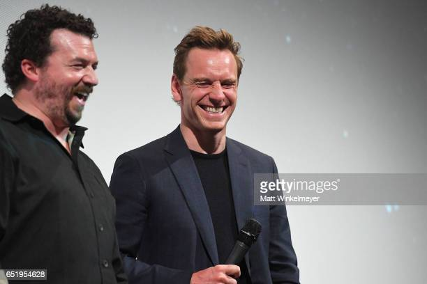 Actors Danny McBride and Michael Fassbender attend the 'Alien' premiere 2017 SXSW Conference and Festivals on March 10 2017 in Austin Texas