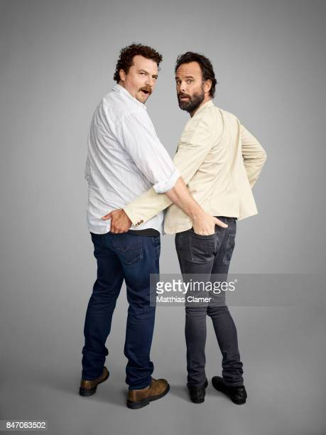 Actors Danny McBride and Walton Goggins from 'Vice Principals' are photographed for Entertainment Weekly Magazine on July 23 2016 at Comic Con in the...