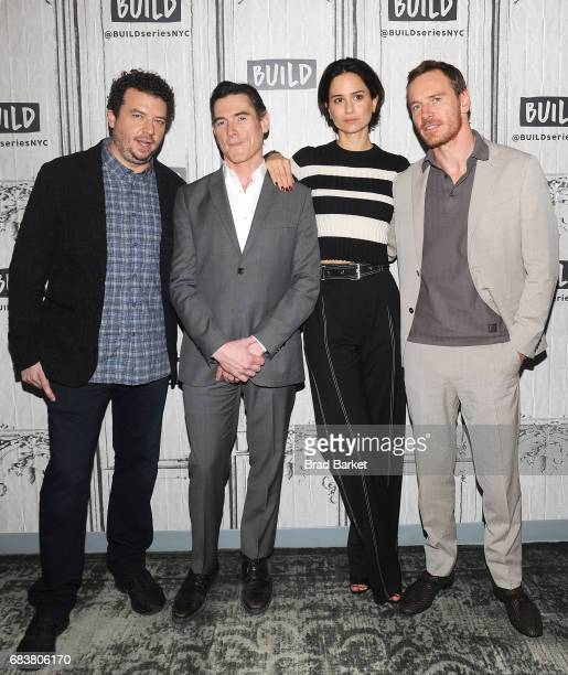 Actors Danny McBride Billy Crudup Katherine Waterston andMichael Fassbender attend Build presents Michael Fassbender Katherine Waterston Danny...
