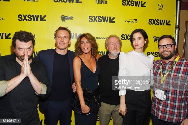 Actors Danny McBride Michael Fassbender Giannina Facio director Sir Ridley Scott actress Katherine Waterston and Producer Senior Programmer of SXSW...