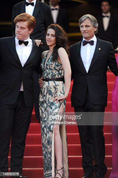 Actors Danny Morgan Kristen Stewart and Viggo Mortensen attend the 'On The Road' Premiere during the 65th Annual Cannes Film Festival at Palais des...