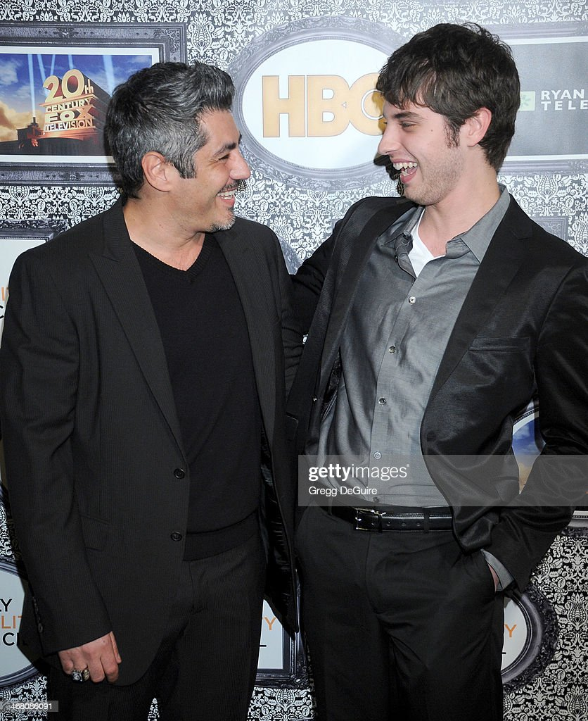 Actors Danny Nucci and David Lambert arrive at the Family Equality Council's Annual Los Angeles Awards Dinner at The Globe Theatre on February 8 2014...