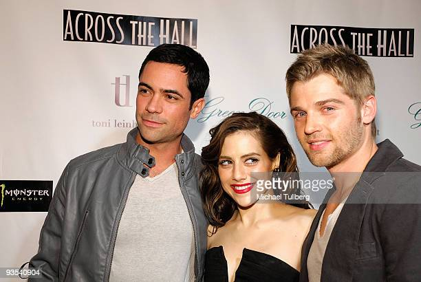 Actors Danny Pino Brittany Murphy and Mike Vogel arrive at the premiere of 'Across The Hall' on December 1 2009 in Beverly Hills California