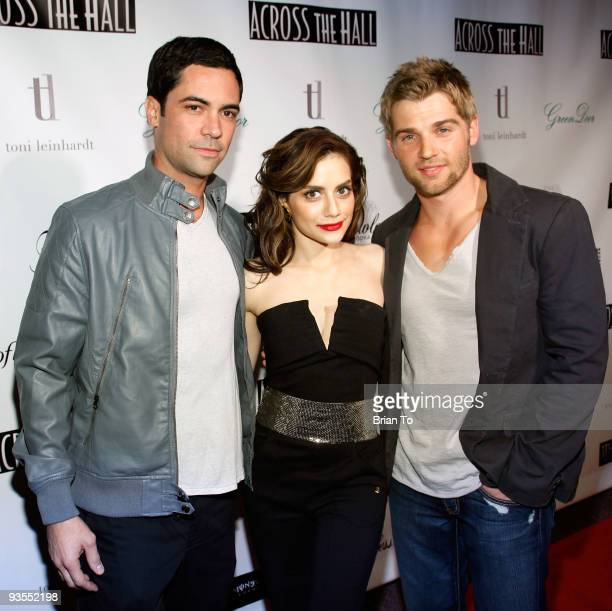 Actors Danny Pino Brittany Murphy and Mike Vogel attend 'Across The Hall' Los Angeles Premiere at Laemmle's Music Hall 3 on December 1 2009 in...