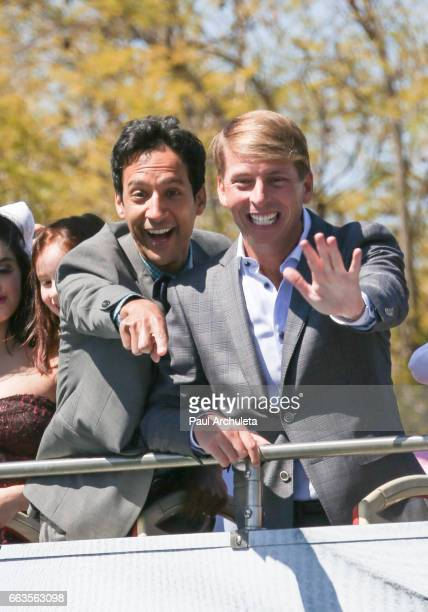 Actors Danny Pudi and Jack Mc Brayer attend the premiere of 'Smurfs The Lost Village' at ArcLight Cinemas on April 1 2017 in Culver City California