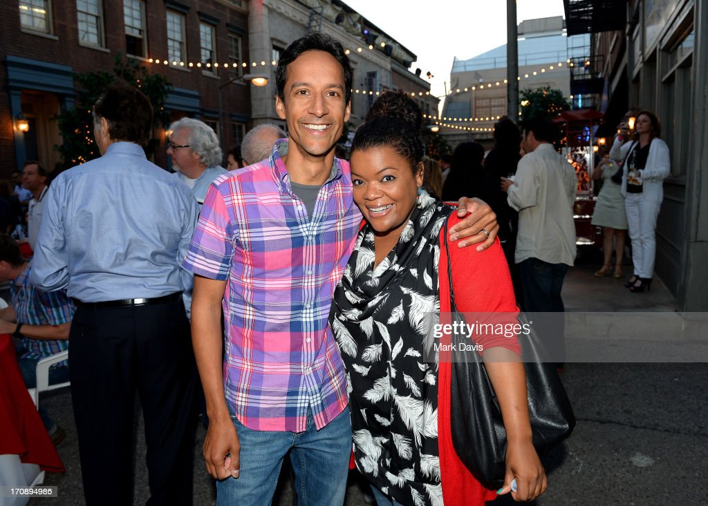 Actors <a gi-track='captionPersonalityLinkClicked' href=/galleries/search?phrase=Danny+Pudi&family=editorial&specificpeople=6106772 ng-click='$event.stopPropagation()'>Danny Pudi</a> and <a gi-track='captionPersonalityLinkClicked' href=/galleries/search?phrase=Yvette+Nicole+Brown&family=editorial&specificpeople=4420097 ng-click='$event.stopPropagation()'>Yvette Nicole Brown</a> attend the after party for TV Land's 'Hot in Cleveland' Live Show on June 19, 2013 in Studio City, California. (TV Land's Hot in Cleveland goes LIVE at 10:00pm ET in the first LIVE broadcast in the channel's history. Betty White, Jane Leeves, Wendie Malick and Valerie Bertinelli are joined by guest stars William Shatner (Star Trek), Shirley Jones (The Partridge Family), Daniel Pudi (Community) and Brian Baumgartner (The Office).