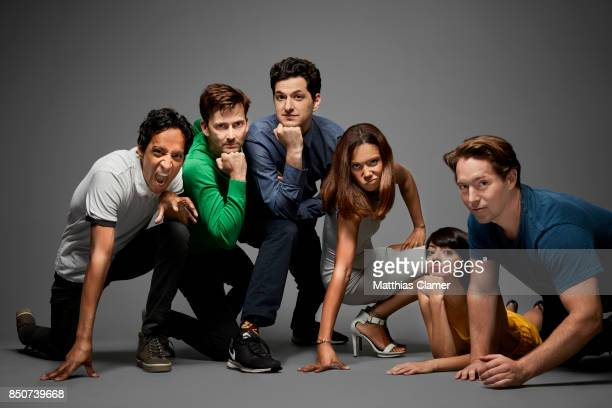 Actors Danny Pudi David Tennant Ben Schwartz Toks Olagundoye Kate Micucci and Beck Bennett from DuckTales are photographed for Entertainment Weekly...