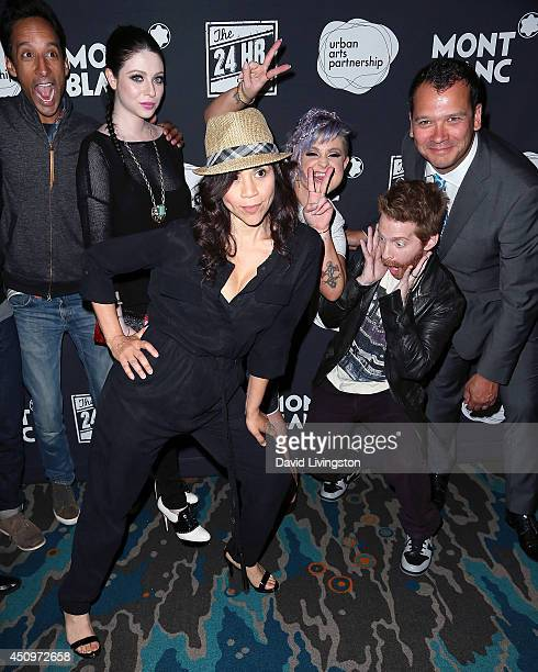 Actors Danny Pudi Michelle Trachtenberg Rosie Perez Kelly Osbourne and Seth Green and Urban Arts Partnership CEO Philip Courtney attend the 4th...