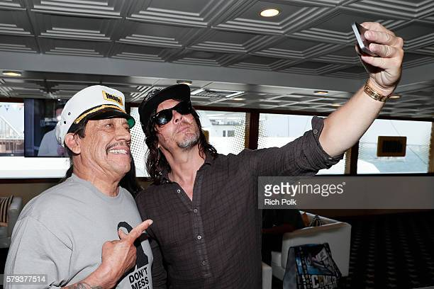 Actors Danny Trejo and Norman Reedus attend the IMDb Yacht at San Diego ComicCon 2016 Day Three at The IMDb Yacht on July 23 2016 in San Diego...