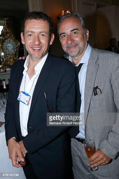Actors Dany Boon and Antoine Dulery attend 'Une Nuit avec la Police et la Gendarmerie' France 2 TV Show Held at Ministere de l'Interieur in Paris on...