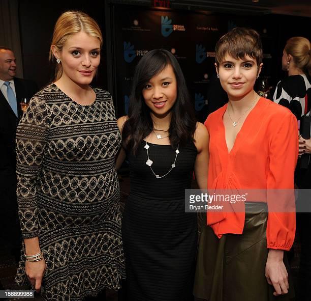 Actors Daphne Oz Ellen Wong and Sami Gayle attend the Design by Hand Cocktail Party cohosted by Van Cleef Arpels and CooperHewitt National Design...
