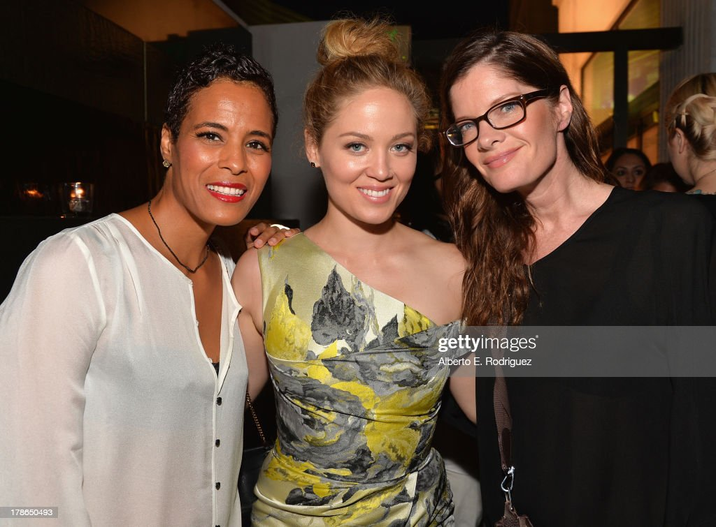 Actors Daphne Wayans, Erika Christensen and Michelle Stafford Genlux Magazine's Issue Release party featuring Erika Christensen at The Sofitel Hotel on August 29, 2013 in Los Angeles, California.