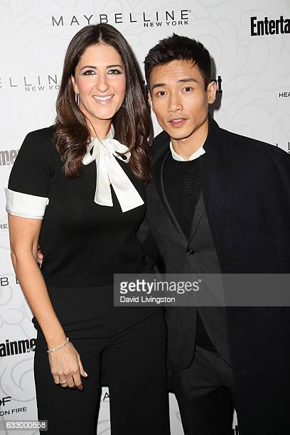 Actors D'Arcy Carden and Manny Jacinto arrive at the Entertainment Weekly celebration honoring nominees for The Screen Actors Guild Awards at the...