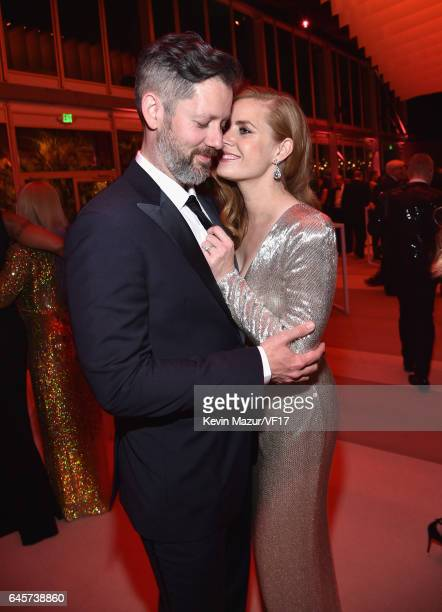 Actors Darren Le Gallo and Amy Adams attend the 2017 Vanity Fair Oscar Party hosted by Graydon Carter at Wallis Annenberg Center for the Performing...