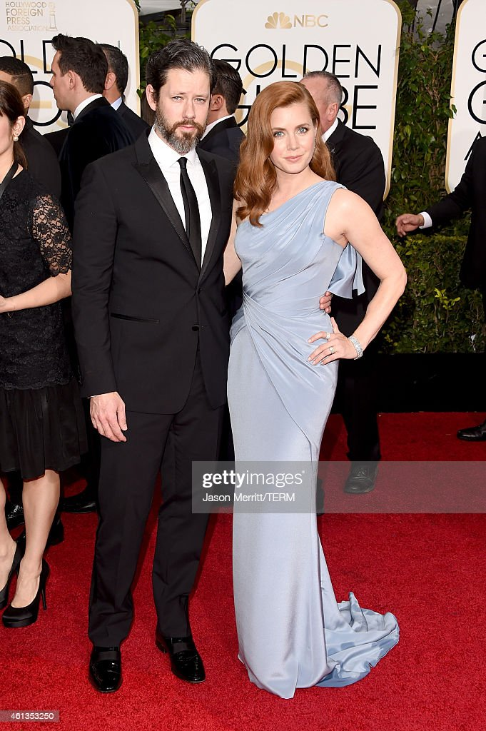 Actors Darren Le Gallo and Amy Adams attends the 72nd Annual Golden Globe Awards at The Beverly Hilton Hotel on January 11 2015 in Beverly Hills...
