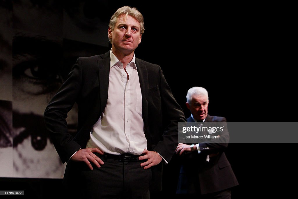 Actor's Darren Weller and David Downer perform a scene from 'Stainless Steel Rat' a story about <a gi-track='captionPersonalityLinkClicked' href=/galleries/search?phrase=Julian+Assange&family=editorial&specificpeople=7117000 ng-click='$event.stopPropagation()'>Julian Assange</a> at the York Theatre on June 30, 2011 in Sydney, Australia. 'Stainless Steel Rat' directed by Wayne Harrison and written by Ron Elisha, is believed to be the first play about <a gi-track='captionPersonalityLinkClicked' href=/galleries/search?phrase=Julian+Assange&family=editorial&specificpeople=7117000 ng-click='$event.stopPropagation()'>Julian Assange</a> and Wikileaks.