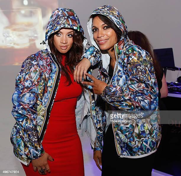 Actors Dascha Polanco and Rosario Dawson attend Courvoisier Cognac's Exceptional Journey Campaign Celebration on November 11 2015 in New York City