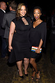 Actors Dascha Polanco and Samira Wiley attends the Entertainment Weekly People Upfronts party 2016 at Cedar Lake on May 16 2016 in New York City