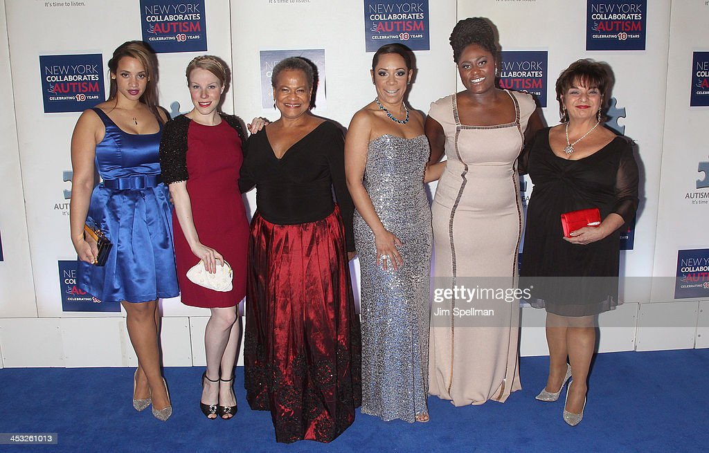 Actors Dascha Polanco, Emma Myles, Michelle Hurst, Selenis Leyva, Danielle Brooks and Lin Tucci attend the 2013 Winter Ball For Autism the at Metropolitan Museum of Art on December 2, 2013 in New York City.