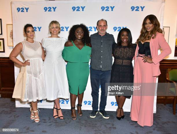 Actors Dascha Polanco Taylor Schilling Danielle Brooks Nick Sandow Uzo Aduba and Laverne Cox attend 'Orange is the New Black' Season Five Debut...