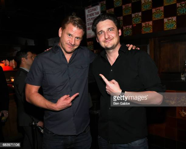 Actors Dash Mihok and Toby Leonard Moore attend the Gersh Upfronts Party at The Jane Hotel on May 16 2017 in New York City