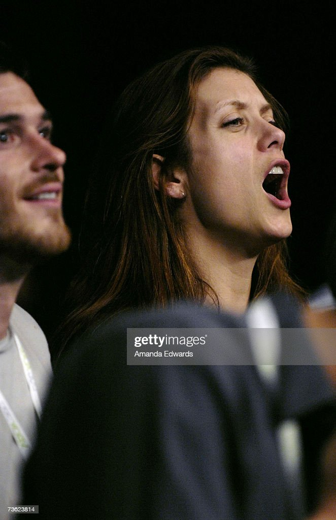 Actors Dave Annable and Kate Walsh attend the IFL Fight Night at The Forum on March 17, 2007 in Inglewood, California.