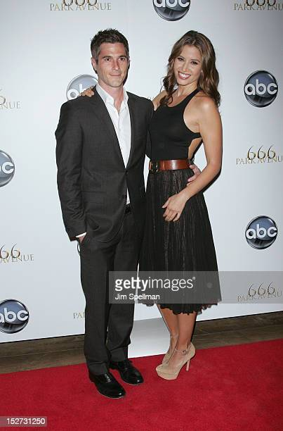 Actors Dave Annable and Mercedes Masohn attend the '666 Park Avenue' Premiere at the Crosby Street Hotel on September 24 2012 in New York City