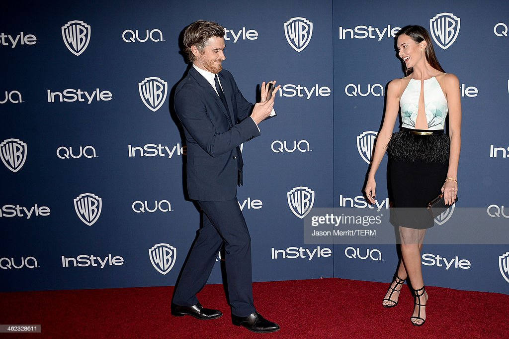 Actors Dave Annable (L) and Odette Annable attend the 2014 InStyle And Warner Bros. 71st Annual Golden Globe Awards Post-Party held at The Beverly Hilton Hotel on January 12, 2014 in Beverly Hills, California.