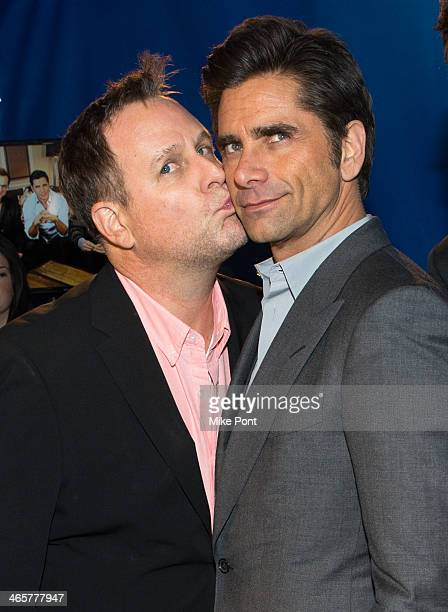 Actors Dave Coulier and John Stamos visit the Dannon Oikos Tent on January 29 2014 in New York City