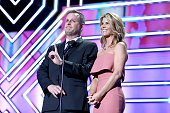 Actors Dave Coulier and Lori Loughlin speak onstage during the 2016 TV Land Icon Awards at The Barker Hanger on April 10 2016 in Santa Monica...