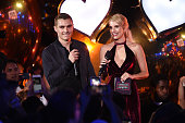 Actors Dave Franco and Emma Roberts on stage at the MTV Fandom Awards San Diego at PETCO Park on July 21 2016 in San Diego California
