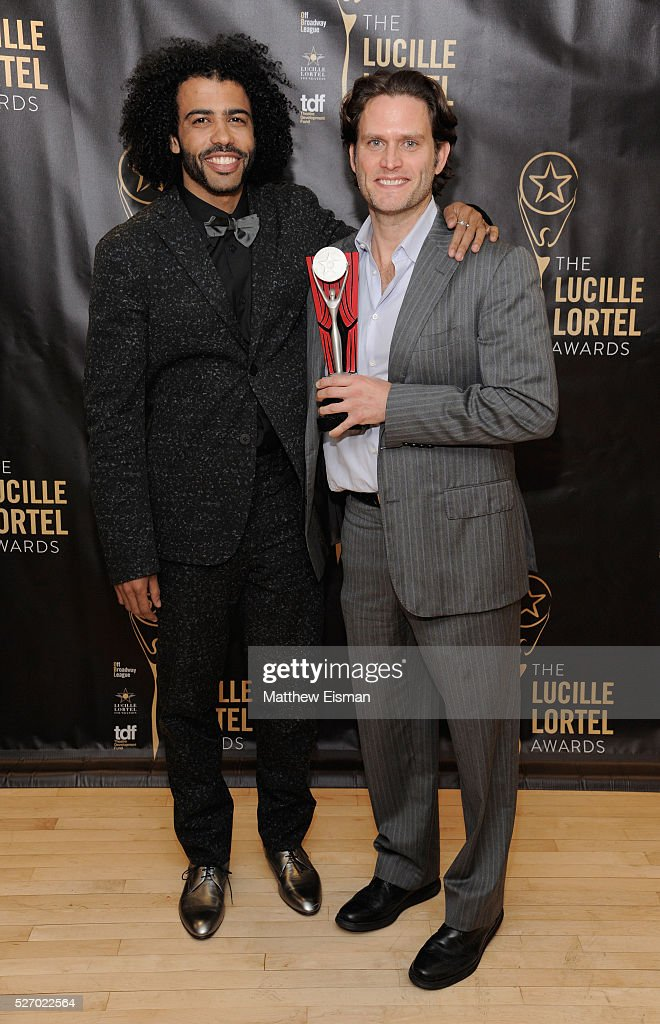 Actors <a gi-track='captionPersonalityLinkClicked' href=/galleries/search?phrase=Daveed+Diggs&family=editorial&specificpeople=13937757 ng-click='$event.stopPropagation()'>Daveed Diggs</a> and <a gi-track='captionPersonalityLinkClicked' href=/galleries/search?phrase=Steven+Pasquale&family=editorial&specificpeople=2094604 ng-click='$event.stopPropagation()'>Steven Pasquale</a> attend the press room for the 31st Annual Lucille Lortel Awards at NYU Skirball Center on May 1, 2016 in New York City.