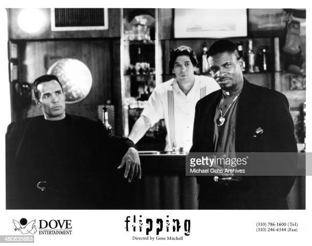 Actors David Amos Paul Klar and Keith David in a scene from the movie 'Flipping' circa 1997