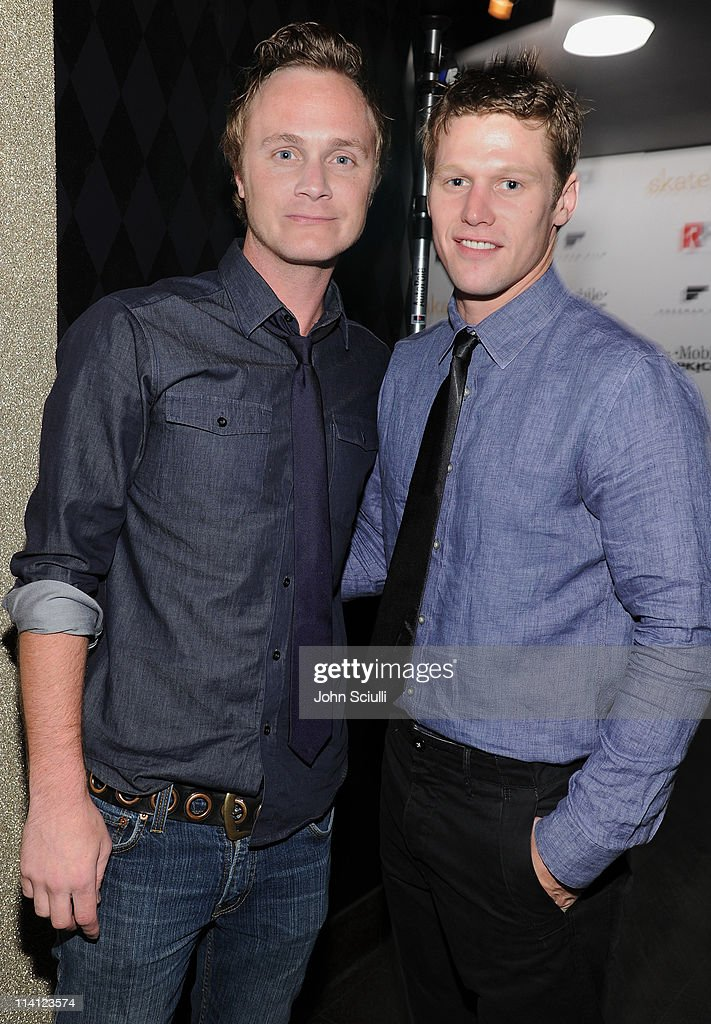 Actors David Anders and Zach Roerig attend the 'Skateland' after party on May 11, 2011 in Hollywood, California.
