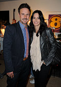 Actors David Arquette and sister Courteney Cox Arquette attend the Launch Party For New Darfur Awareness TShirt Line at Propr Store on December 17...