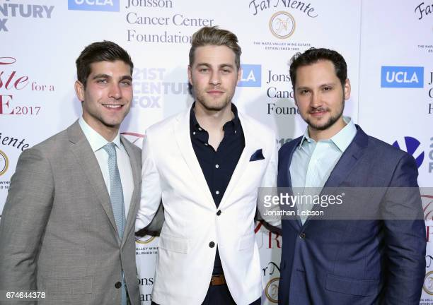 Actors David Bernon Cameron Fuller and Matt McGorry attend the UCLA Jonsson Cancer Center Foundation Hosts 22nd Annual 'Taste for a Cure' event...