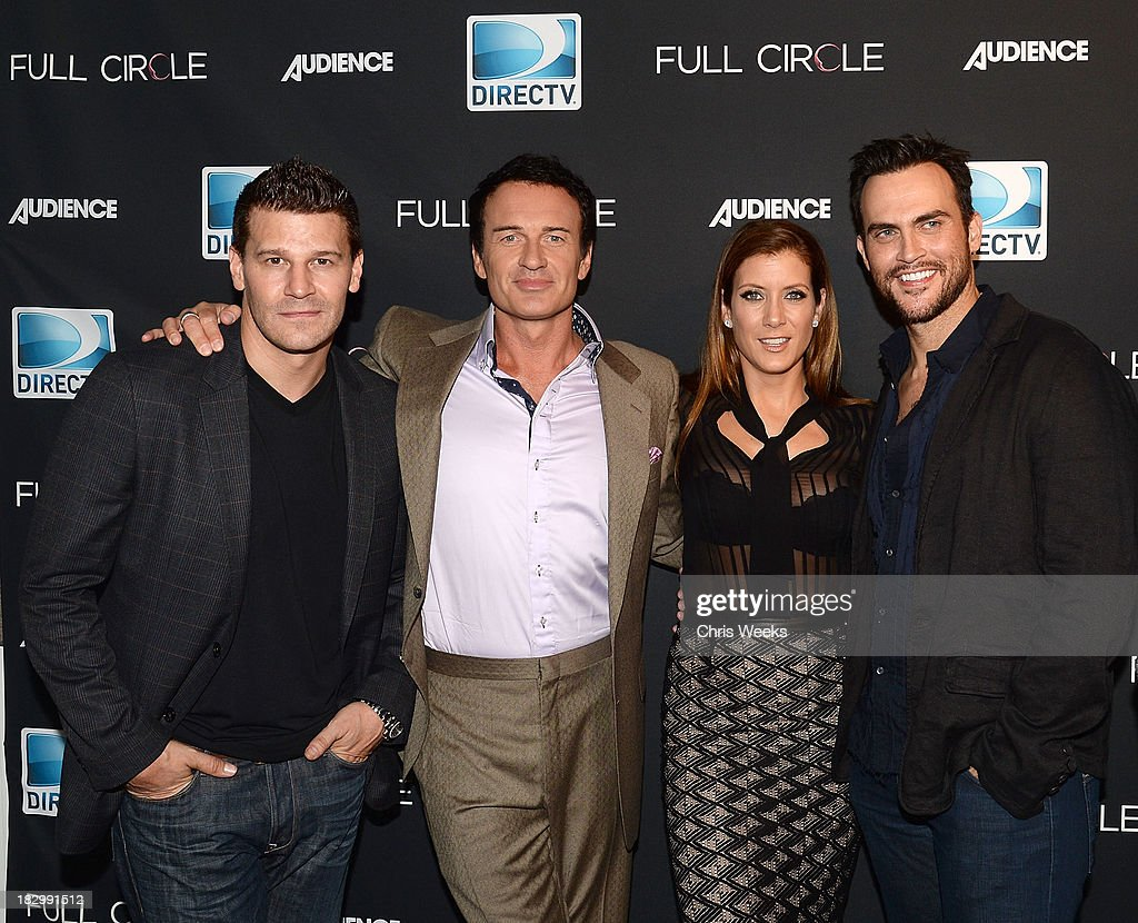 Actors David Boreanz Julian McMahon Kate Walsh and Cheyenne Jackson attend the launch of DIRECTV's newest original series 'Full Circle' at Bagatelle...