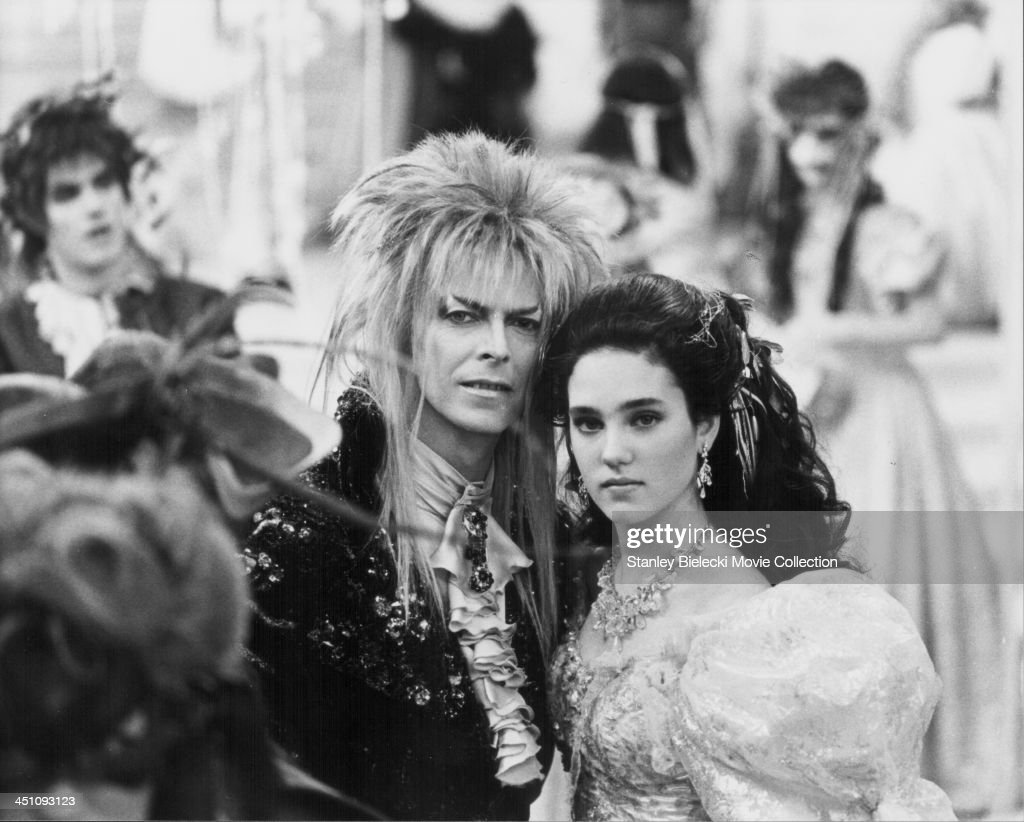 Actors David Bowie and Jennifer Connelly in a scene from the movie 'Labyrinth' 1986