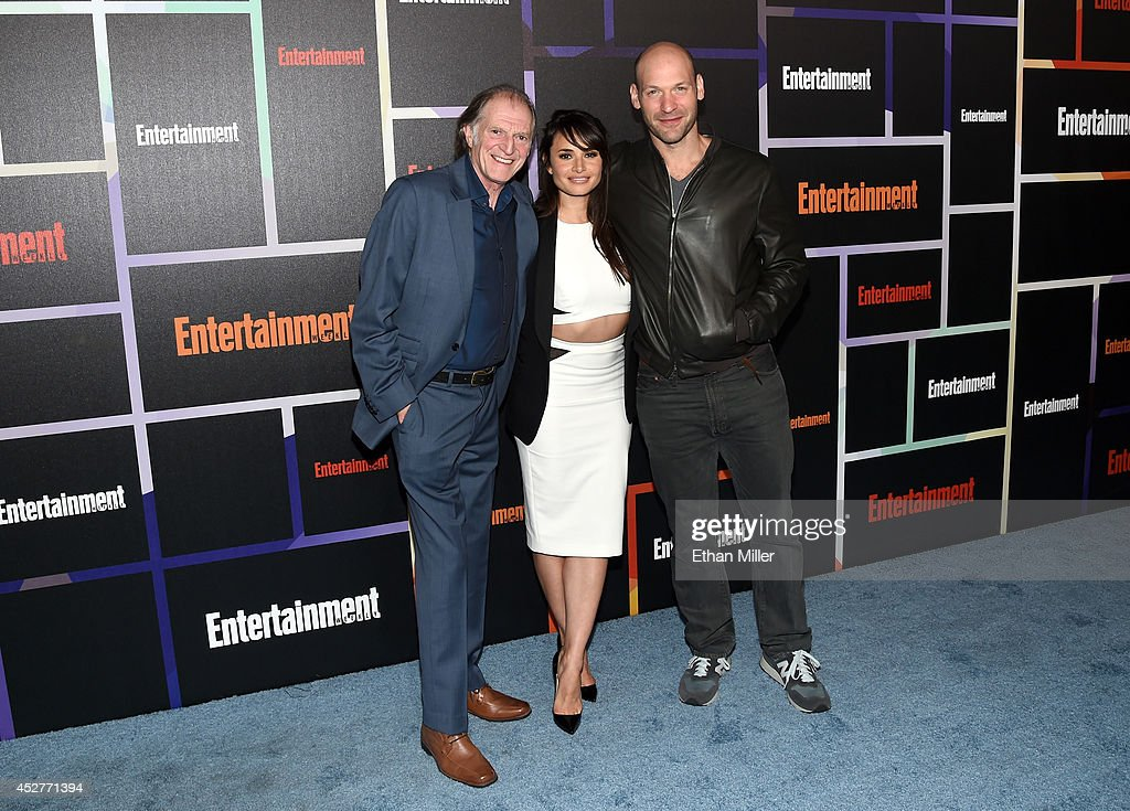 Actors David Bradley, Mia Maestro and Corey Stoll attend Entertainment Weekly's annual Comic-Con celebration at Float at Hard Rock Hotel San Diego on July 26, 2014 in San Diego, California.