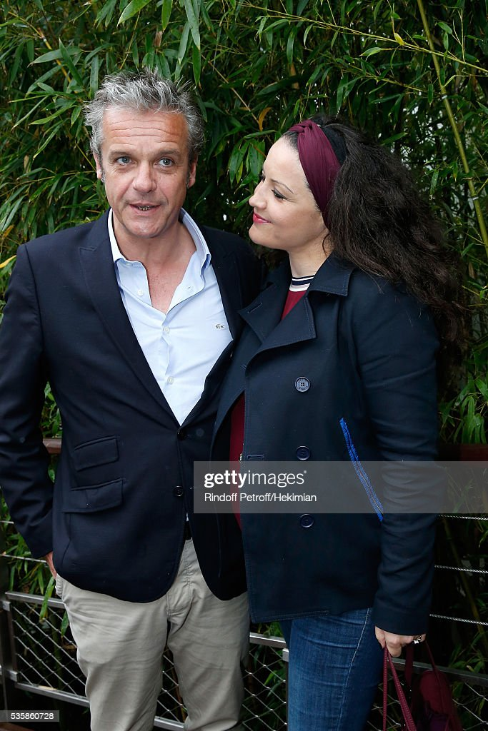 Actors David Brecourt and his companion Alexandra Sarramona attend Day Nine of the 2016 French Tennis Open at Roland Garros on May 30, 2016 in Paris, France.
