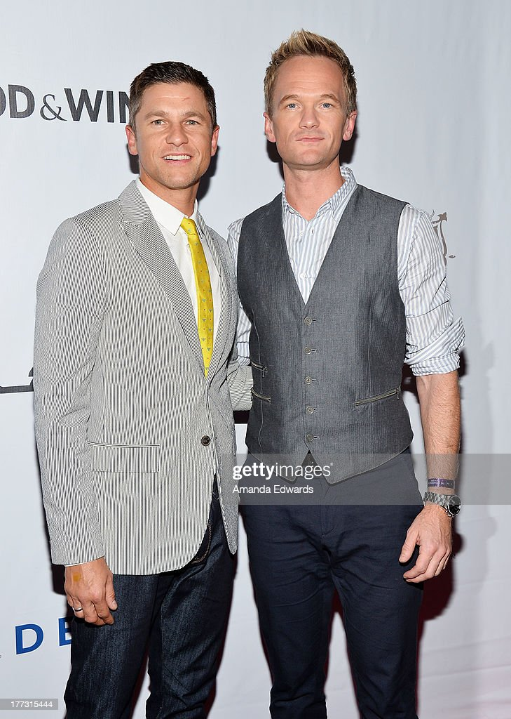 Actors <a gi-track='captionPersonalityLinkClicked' href=/galleries/search?phrase=David+Burtka&family=editorial&specificpeople=572242 ng-click='$event.stopPropagation()'>David Burtka</a> (L) and <a gi-track='captionPersonalityLinkClicked' href=/galleries/search?phrase=Neil+Patrick+Harris&family=editorial&specificpeople=210509 ng-click='$event.stopPropagation()'>Neil Patrick Harris</a> arrive at the opening night of the 2013 Los Angeles Food & Wine Festival - 'Festa Italiana With Giada De Laurentiis' on August 22, 2013 in Los Angeles, California.