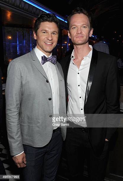 Actors David Burtka and Neil Patrick Harris attend the 2014 Tony Honors Cocktail Party at the Paramount Hotel on June 2 2014 in New York City