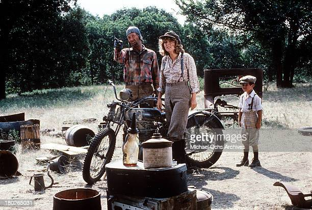 Actors David Carradine Whit Clay and actress Brenda Vaccaro on set of the Universal Studios movie ' Fast Charlie the Moonbeam Rider' in 1979